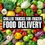 chiller truck for frozen food